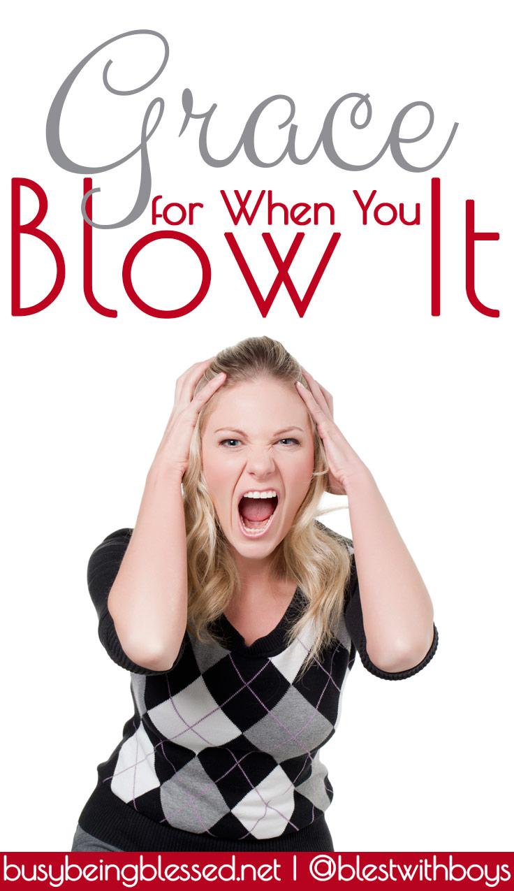 Grace for When You Blow It - Some days, I completely blow it. I pretty much go to bed feeling like a hypocrite... More @BusyBeingBlessed.net