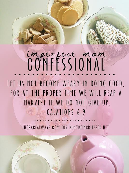 Imperfect Mom by Tiffany Garza from inGraceAlways.com for BusyBeingBlessed.net