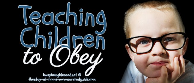 Teaching Children to Obey {Guest Post on SAHMSG}