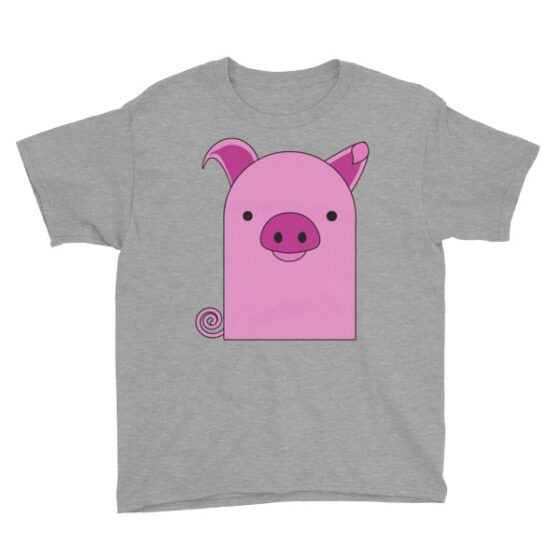 Piggy-Piggy Chubby Beeny Buddy Youth Short Sleeve T-Shirt