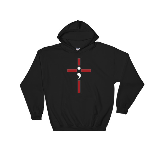"Hooded Sweatshirt ""Hope Cross"""