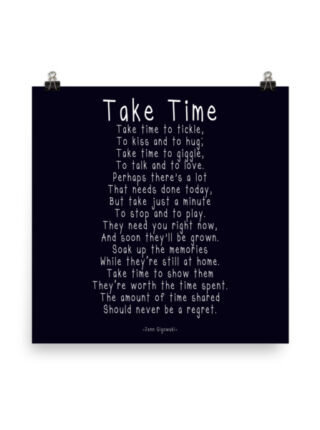 """Take Time"" Printable"