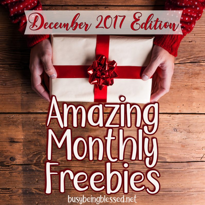 Amazing Monthly Freebies December 2017 Edition