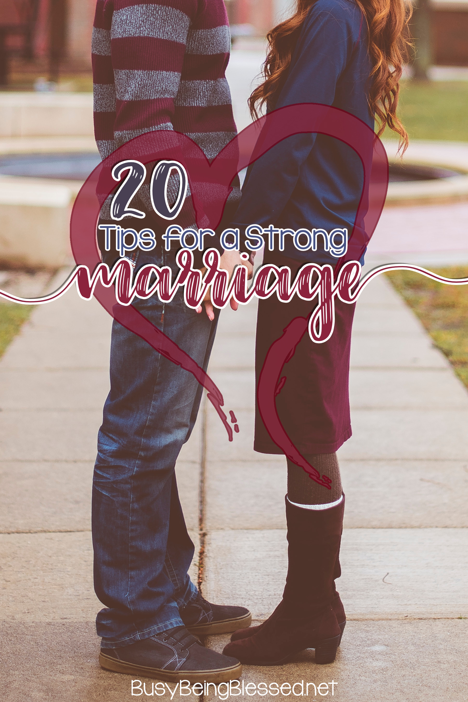 20 Tips for a Strong Marriage - I find it so hard to believe that I've been married 20 years today, and we had our first date 21 years ago today! Marriage is a funny thing, isn't it? Sometimes, I feel like we're still newlyweds. Other times, I feel like a wrinkled old couple, still in love and teasing each other.