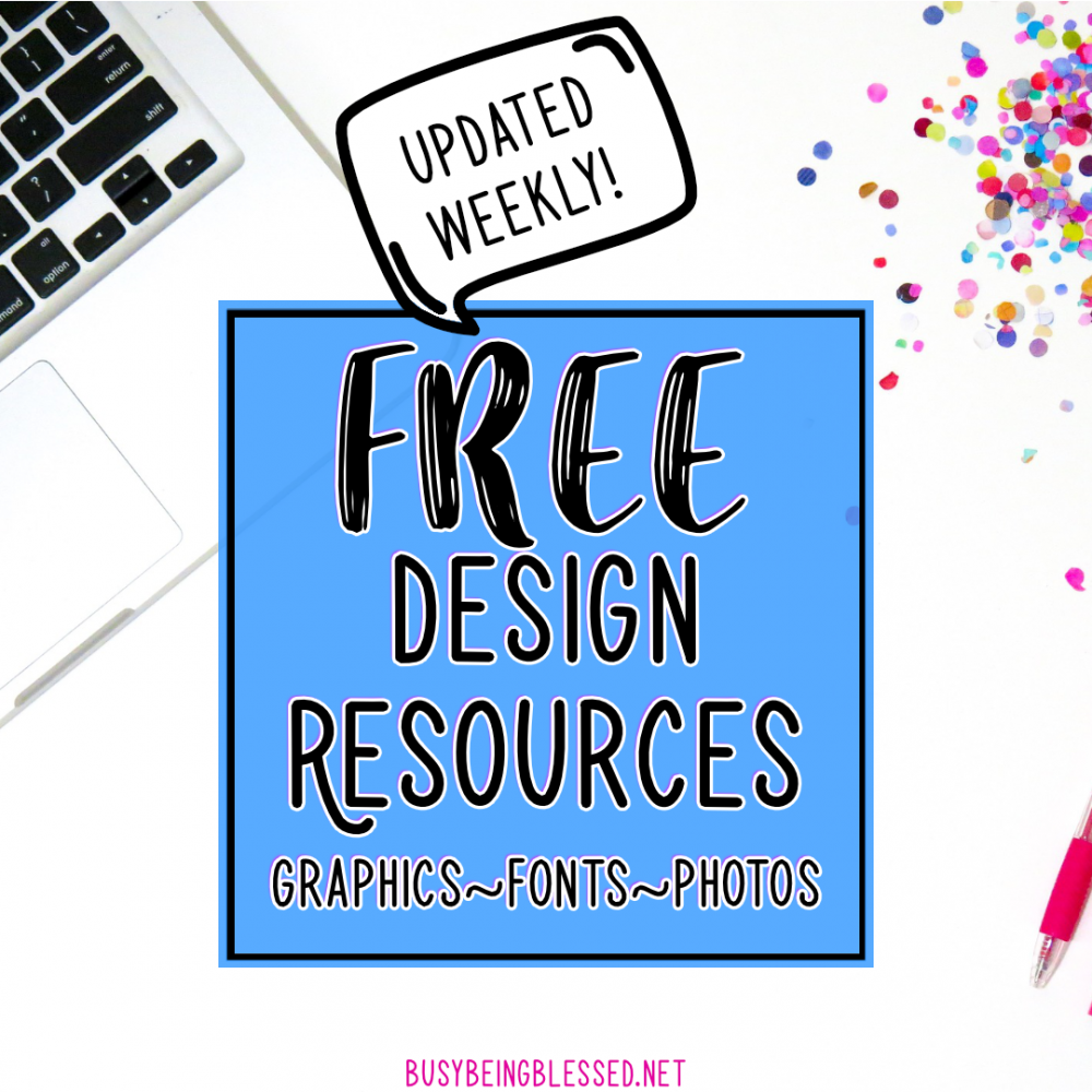 Free Design Resources (Updated 12/28)
