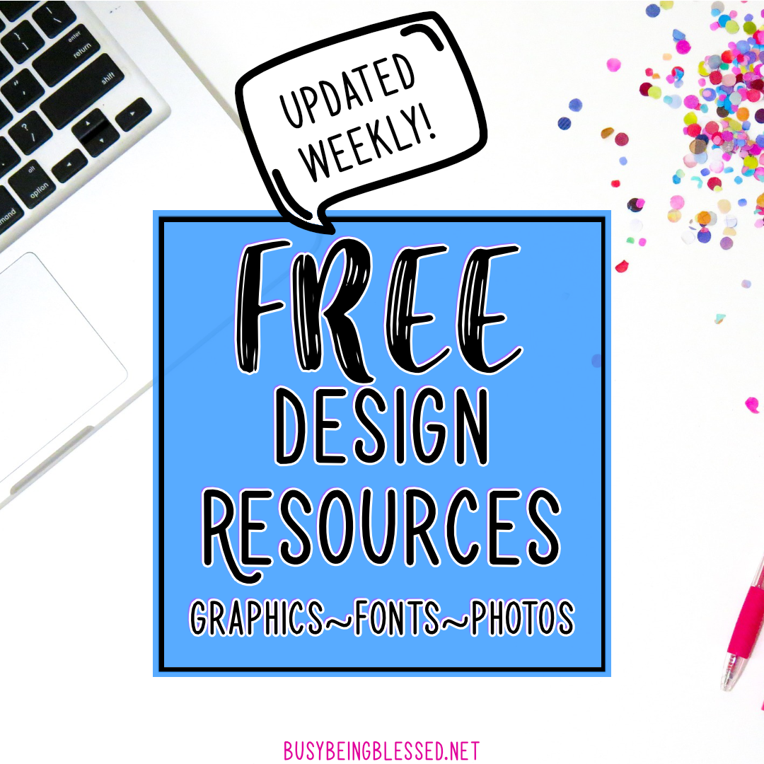 Free Design Resources (Updated 11/18)