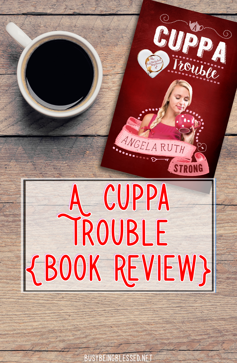 This is another wonderful work of fiction by Angela Ruth Strong. It\'s a comedy/romance/mystery joyride. :)
